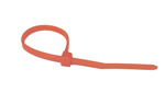 Orange zip tie, 100 count