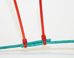 Red zip tie, 100 count
